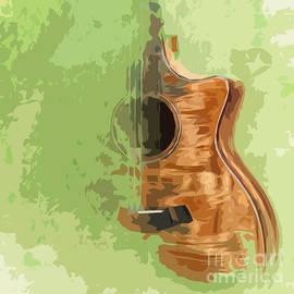 Pablo Franchi - Guitar green background 5