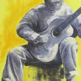 Susan Richardson - Guitar Man in Shades of Grey