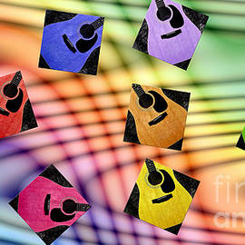 Andee Photography - Guitar Storm - Rainbow Colors - Music - Abstract
