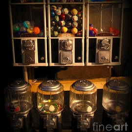 Miriam Danar - Gumball Memories - Row of Antique Vintage Vending Machines - Iconic New York City
