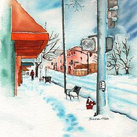 Sharon Mick - Gurley Street Prescott Arizona On a Cold Winters Day Western Town