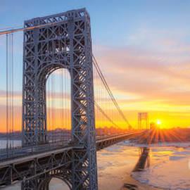 Michael Ver Sprill - GW Bridge Panorama Sunburst