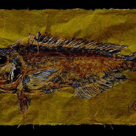 Gyotaku - Golden Tilefish - Clown of the Sea - Blanquillo