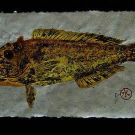 Gyotaku - Golden Tilefish - Clown of the Seas - Blanquillo