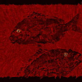 Gyotaku Scup Series 4 Red Unryu Paper