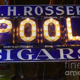 Bob Christopher - H H Rosser Cigar Neon Sign