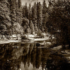 Wes and Dotty Weber - Half Dome and Merced River D1991