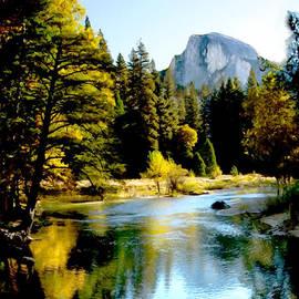 Bob and Nadine Johnston - Half Dome Yosemite River Valley