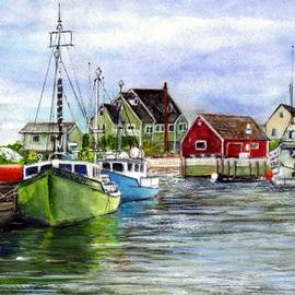 Carol Wisniewski - Peggys Cove Nova Scotia Watercolor