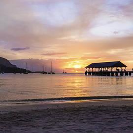 Brian Harig - Hanalei Bay Pier Sunset 3 - Kauai Hawaii