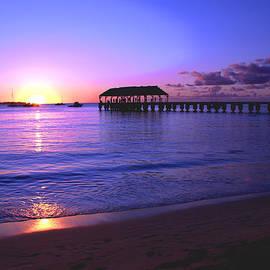 Brian Harig - Hanalei Bay Pier Sunset