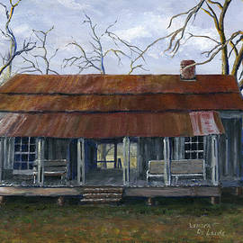 Lenora  De Lude - Hand Painted Art Dogtrot House in Pleasant Hill Louisiana