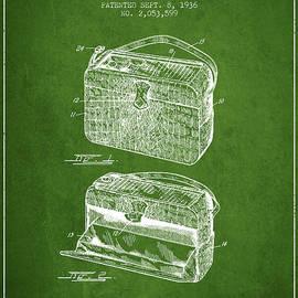 Aged Pixel - Handbag patent from 1936 - Green