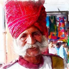 Sue Jacobi - Handsome Doorman Turban India Rajasthan Jaipur