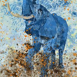 Olga Hamilton - Happy Blue Elephant