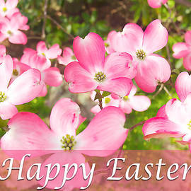 Happy Easter With Pink Dogwood