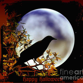 Eva Thomas - Happy Halloween Moon and Crow