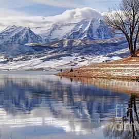 Gary Whitton - Hardy Fishermen Deer Creek Reservoir and Timpanogos in Winter