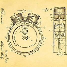 Ian Monk - Harley Davidson Engine Patent Art 1914