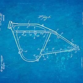 Ian Monk - Harley Davidson Frame for V Type Motors Patent Art 1919 Blueprint