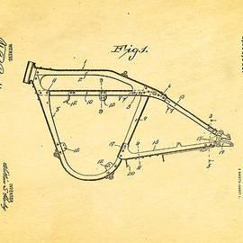 Ian Monk - Harley Davidson Frame for V Type Motors Patent Art 1919