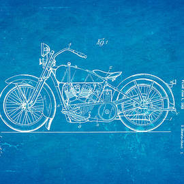 Ian Monk - Harley Davidson Motor Cycle Support Patent Art 1928 Blueprint