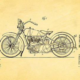 Ian Monk - Harley Davidson Motor Cycle Support Patent Art 1928