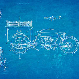 Ian Monk - Harley Davidson Three Wheel Truck 2 Patent Art 1914 Blueprint