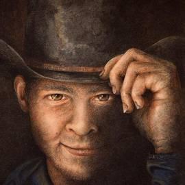 Neva Cruddas - Hat Tipping Cowboy