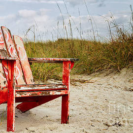 Dawna  Moore Photography - Have a Seat Adirondack Chair on the Beach Amelia Island Florida