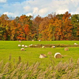 Frozen in Time Fine Art Photography - Hay Bales at Autumn