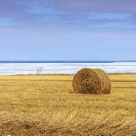 LeeAnn McLaneGoetz McLaneGoetzStudioLLCcom - Hay bales on Lake Huron