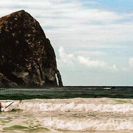 Bob and Nadine Johnston - Haystack  Pacific City Oregon  Surfers