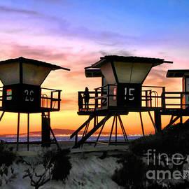 Jennie Breeze - HB Lifeguard Sunset