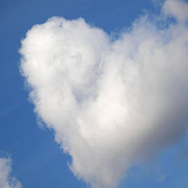 Jessica Foster - Heart Shaped Cloud in the Blue Sky