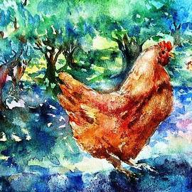 Trudi Doyle - Hens in the Olive Grove