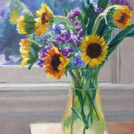 Bonnie Mason - Here Comes the Sun- Sunflowers by the Window