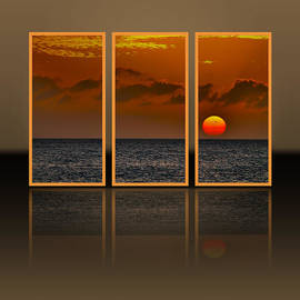 Claudia Mottram - Here goes the sun - Triptych