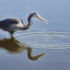 Wes and Dotty Weber - Heron And Ripples W2125C
