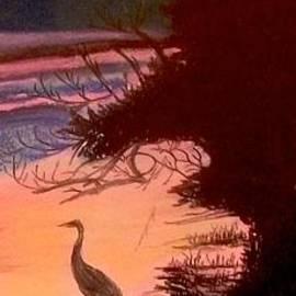 Frank Giordano  - Heron at Sunset