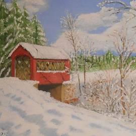 Jack McKenzie - High Mowing Covered Bridge in Winter