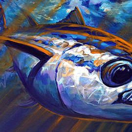Savlen Art - High Seas Albacore Tuna Fish Art