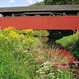 Gene Walls - Historic Buttonwood Covered Bridge In September