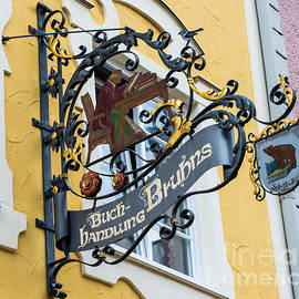 Gary Whitton - Historic Fussen Bear Bookstore Sign - Germany