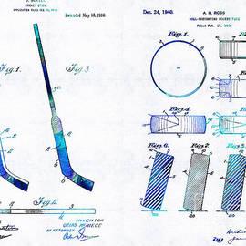 Sharon Cummings - Hockey Art - Stick and Puck - Sharon Cummings