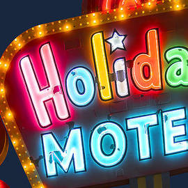 John Wayland - Holiday Motel Vintage Neon Sign - Las Vegas Nevada
