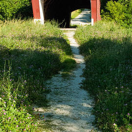 Robert Ford - Holliwell Covered Bridge and Pathway near Winterset Madison County Iowa