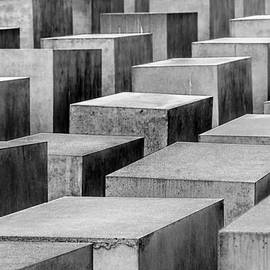 Colin Utz - Holocaust Memorial In Black And White - Berlin Germany