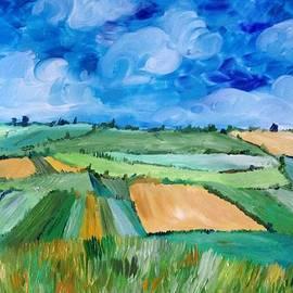 Malia Zaidi - Homage to the Wheat Field