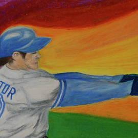 First Star Art  - Home Run Swing Baseball Batter